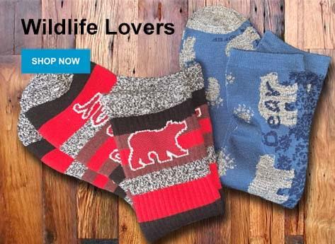 Wildlife Lovers Socks - Shop Now