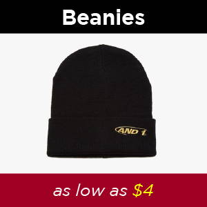 Shop AND1 Mens beanies. AND1 Cyber Monday, 35% off SITEWIDE. Perfect holiday gifts for family and friends at cheap prices: basketballs, basketball shoes, tai chis, shorts, shirts, jerseys, sneakers, basketballs, beanies, hoodies, joggers and more.