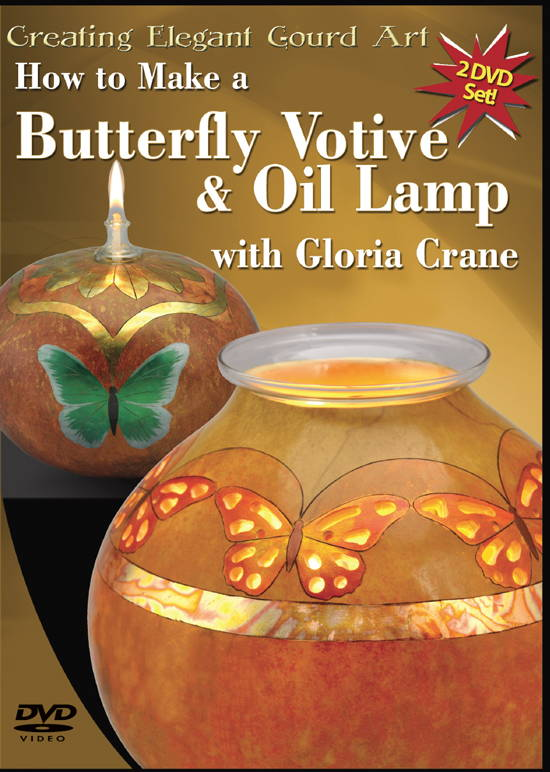 Butterfly Votive and Oil Lamp by Gloria Crane