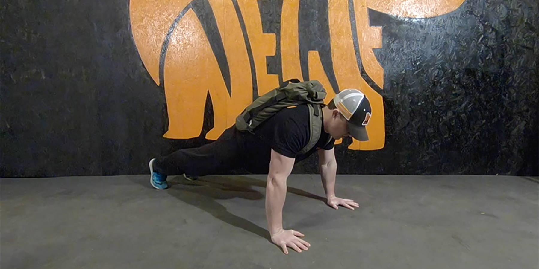 NEWF Bag Rucksack Push-Ups Exercise
