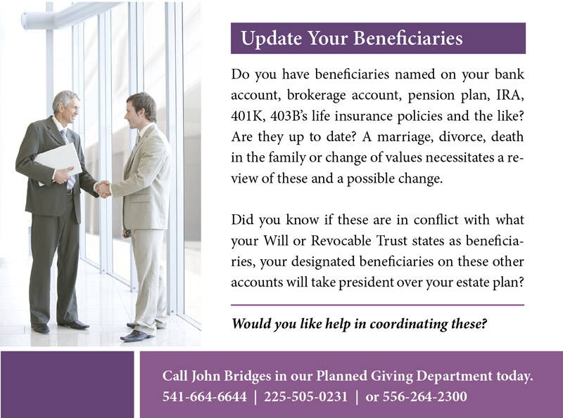 Update Your Beneficiaries