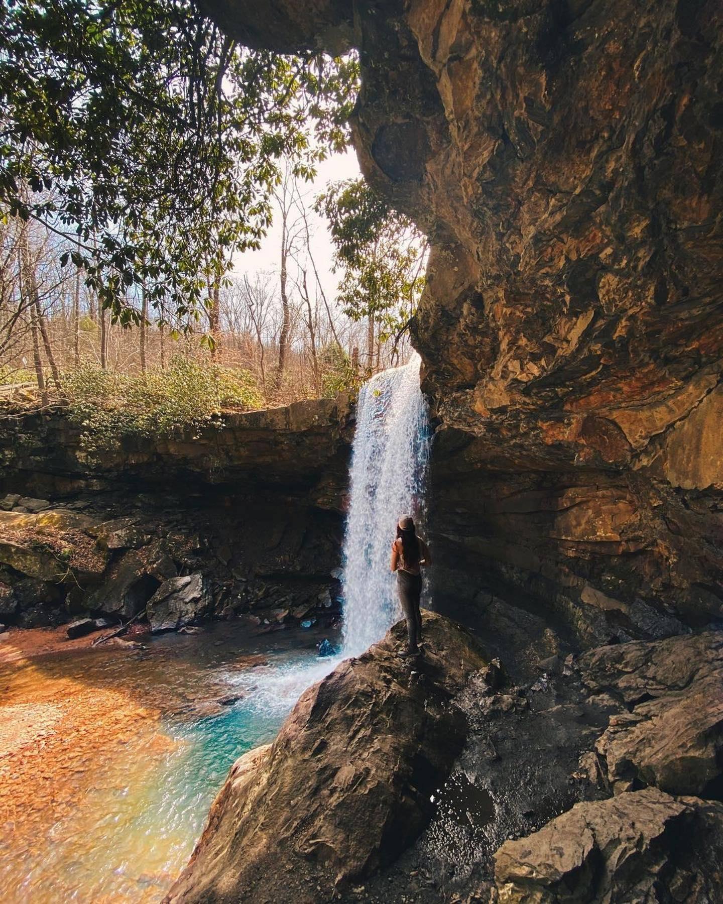 Cucumber Falls waterfall in Ohiopyle State Park Ohiopyle, PA