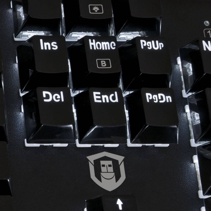 Close up of Insert, Delete, Home, End, Page Up and Page Down keys