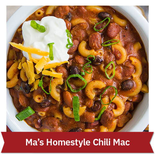 Ma's Homestyle Chili Mac