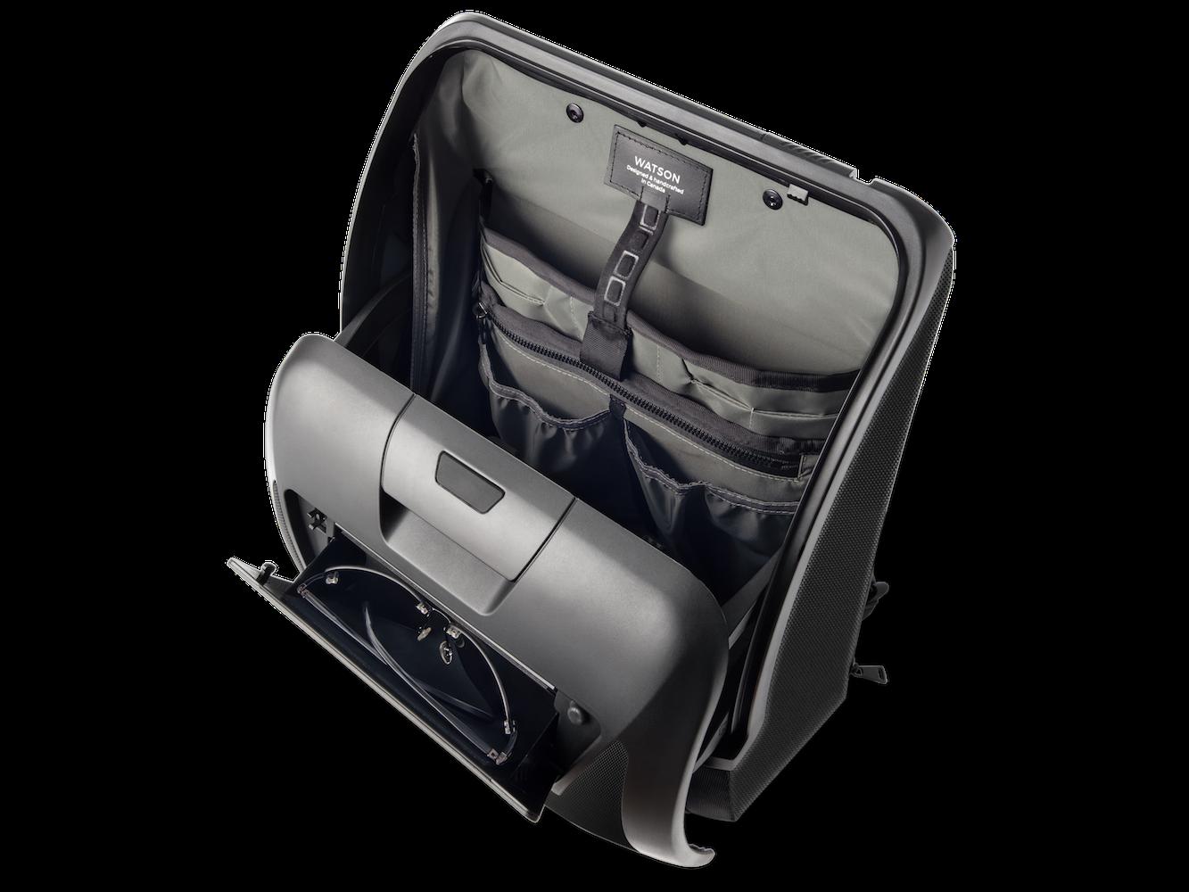 WATSON black business travel backpack