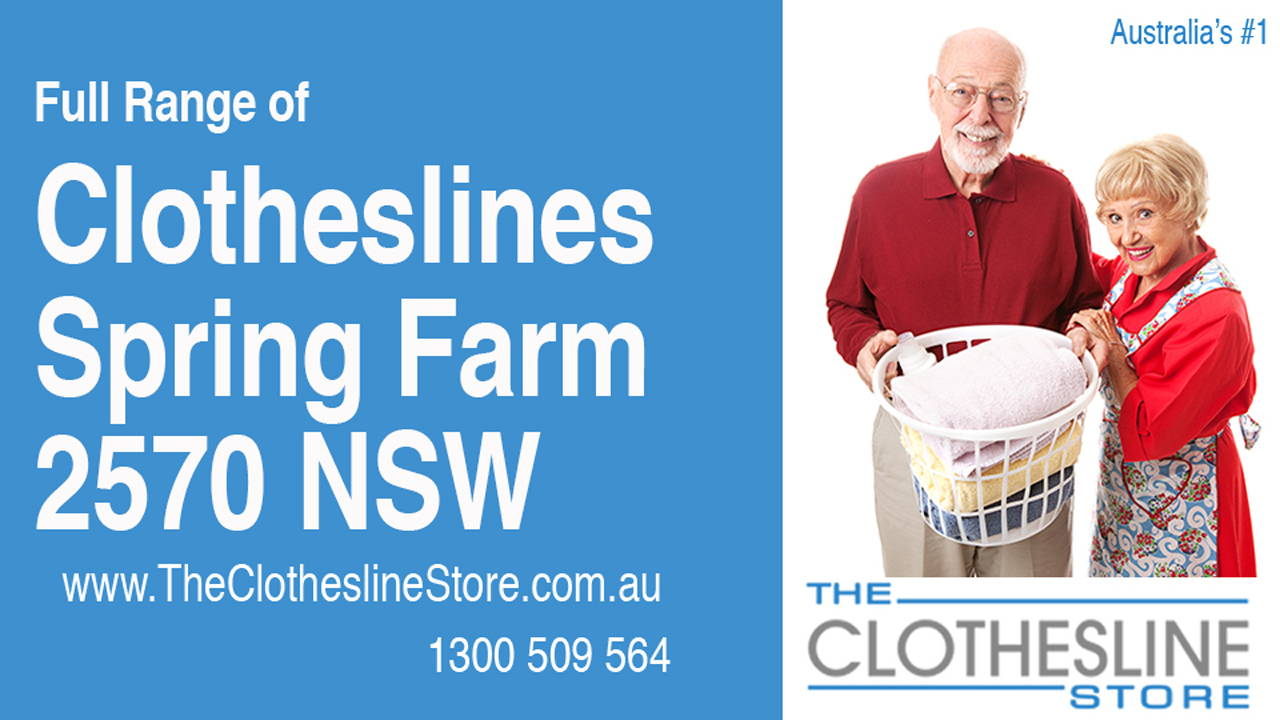 New Clotheslines in Spring Farm 2570 NSW