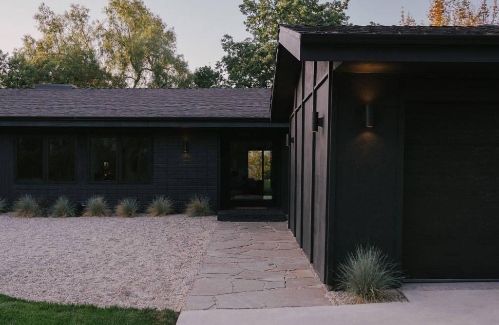 The black exterior of the Zen Den.