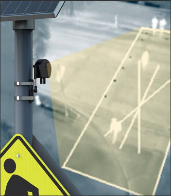 Thermal detection can activate the crosswalk system