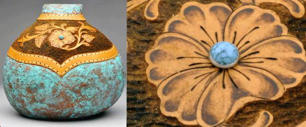 Gourd art by Gloria Crane