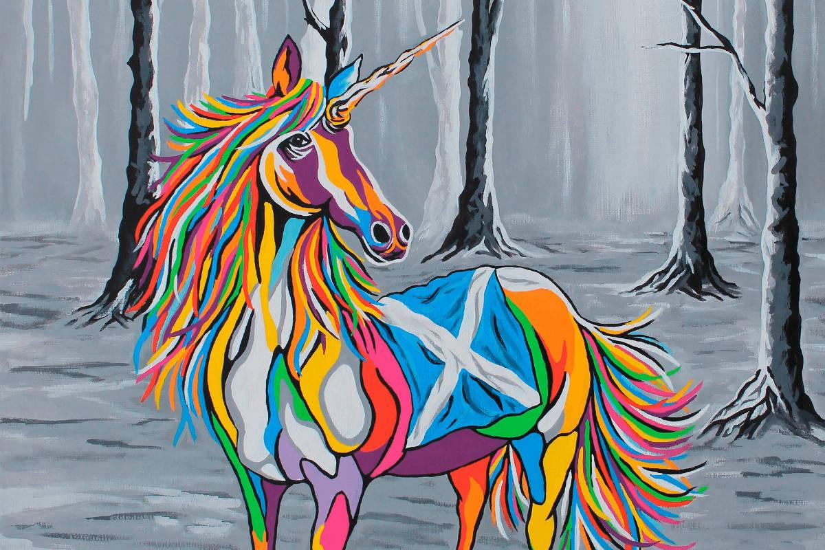 Multi-Coloured Unicorn Art by Steven Brown