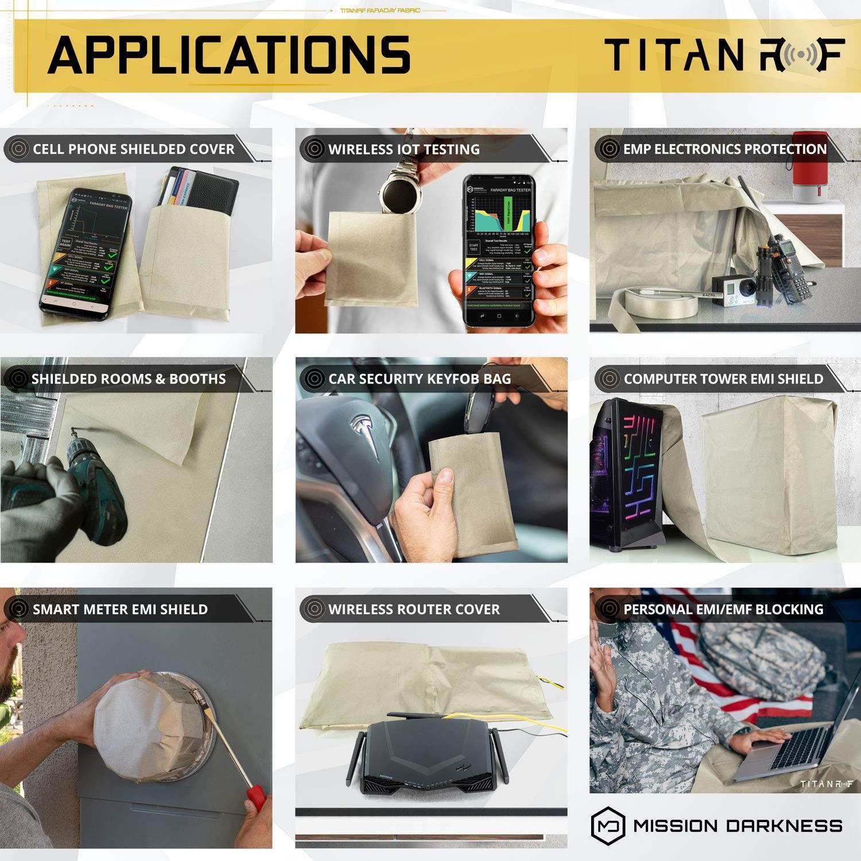 Mission Darkness TitanRF Faraday Fabric + D I Y  Shielded
