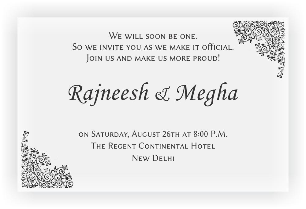 Engagement Invitation CHOCOCRAFT
