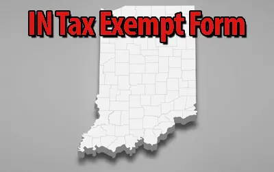 Indiana Tax Exempt Form