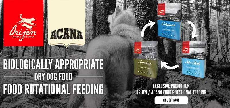 orijen acana food rotational feeding home banner pawpy kisses pet shop