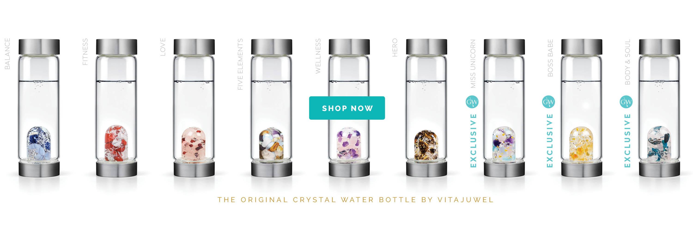 ViA Gem-Water Bottles by VitaJuwel