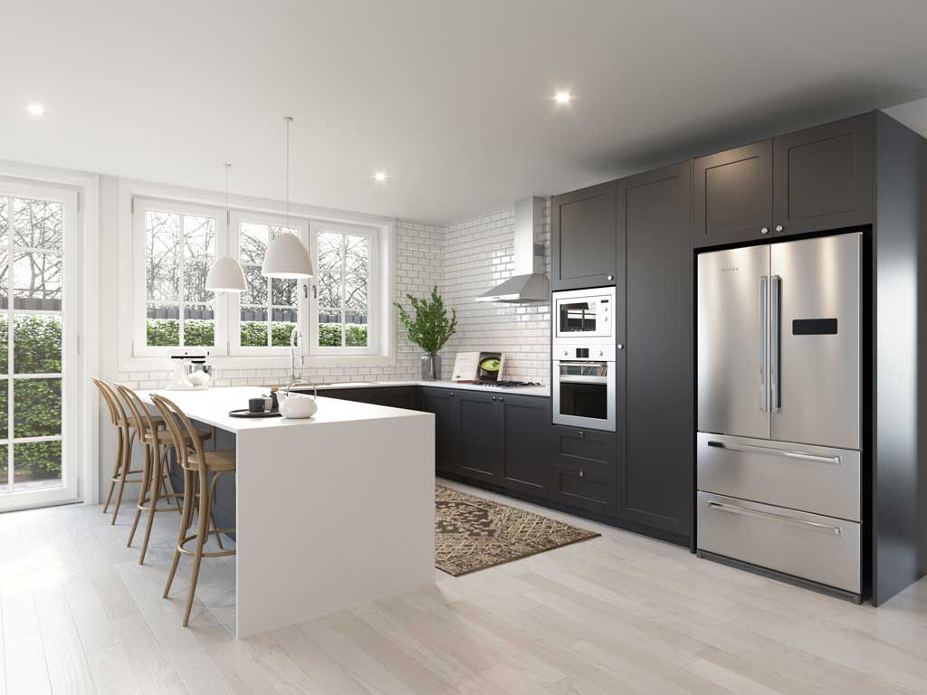 Black shaker kitchens to buy online at The Blue Space