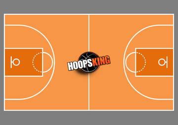 Basketball Court Diagram Orange