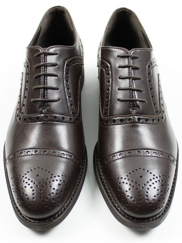 Black Collection Brown Vegan Leather Brogues - Will's London | Ecoture