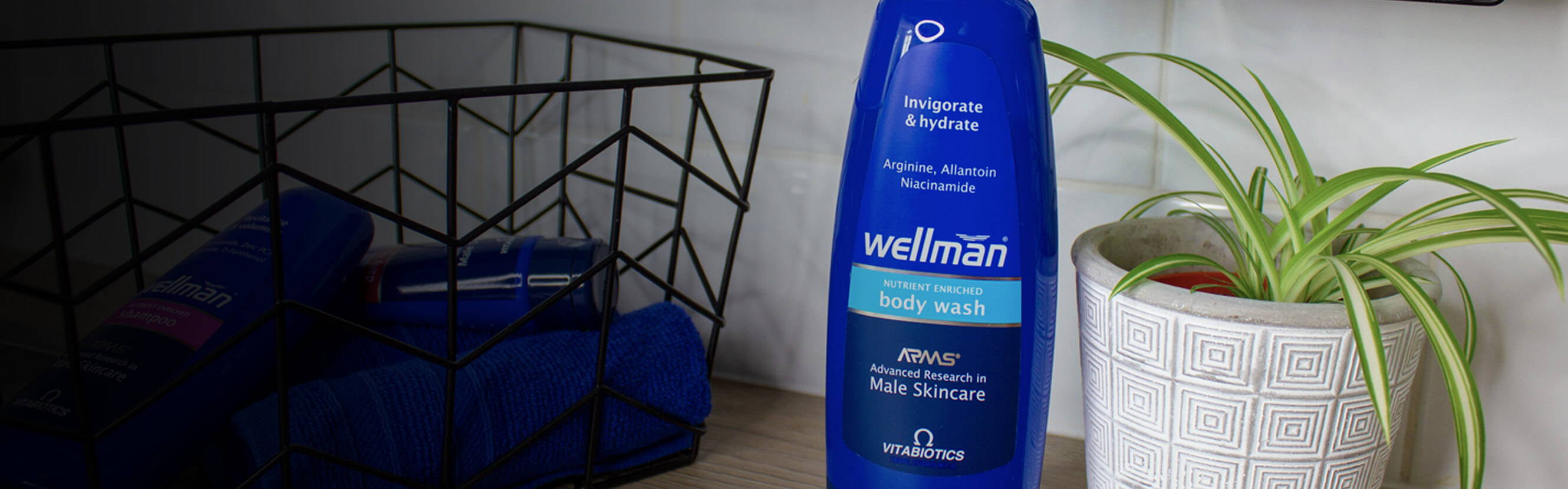 It's not just about clean. The shower is where you take control. Gather your thoughts. Set your goals. And with Welllman Body Wash, it's where you can cleanse and nourish your skin with biolipids that keep it smooth and supple for up to 24 hours.