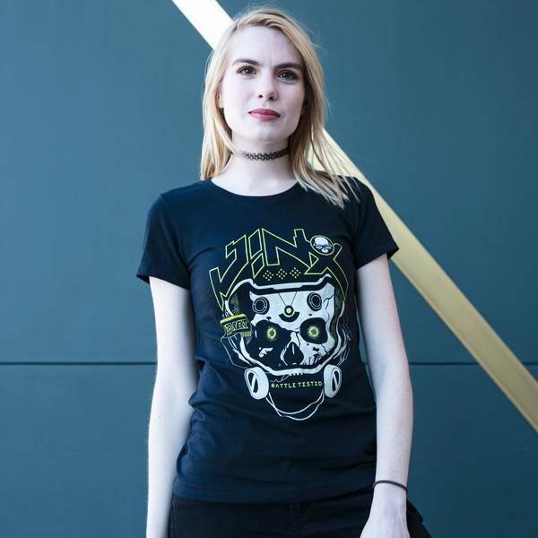 Image of a female model wearing a JINX shirt