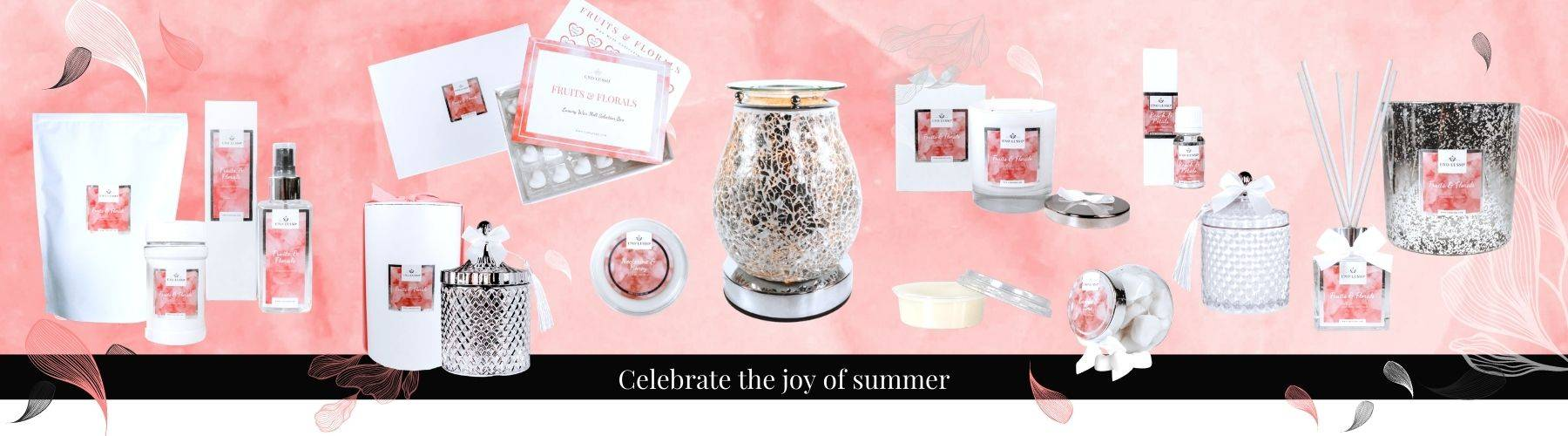 Fruits & Florals Luxury Home Fragrance Collection - Candles, Wax Melts, Room Sprays, Diffusers and more