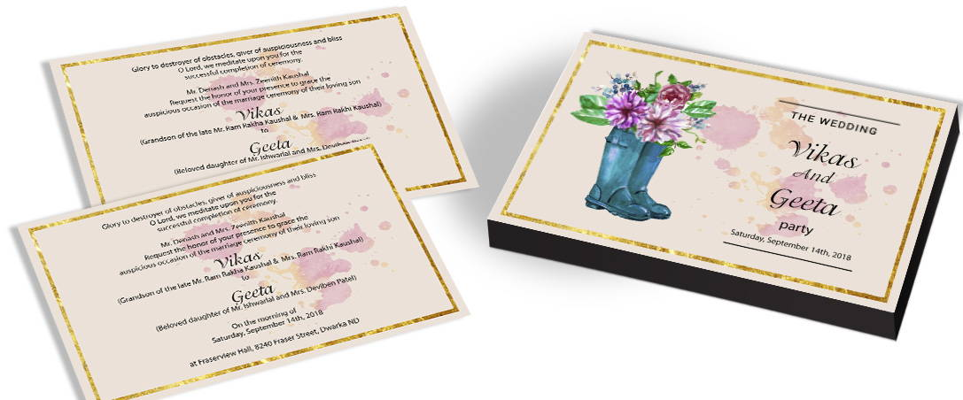 Garden Themed Wedding Invitations In India