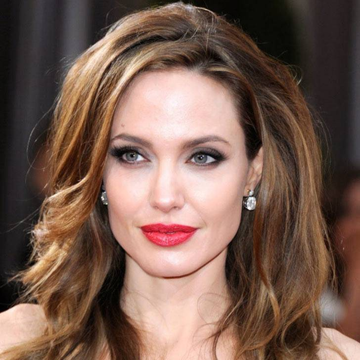 Angelina Jolie with curly hair