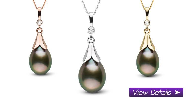 Tahitian Pearl and Diamond Pendants