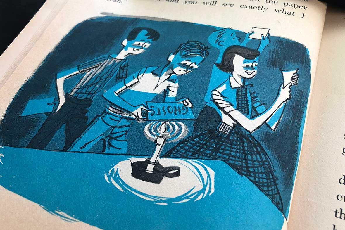 Retro children's magic book Spooky Magic