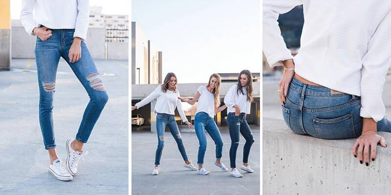 wardrobe essentials blue denim jean styles