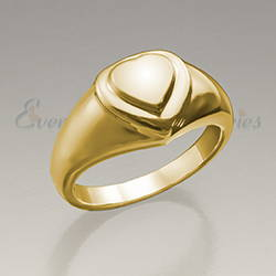 14K Gold Forever Love Cremation Ring