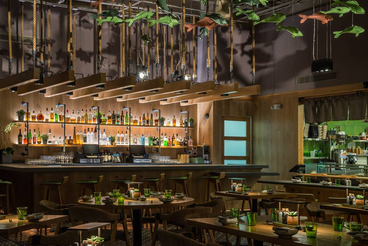 Resturant interior lighting by Brand Lighting