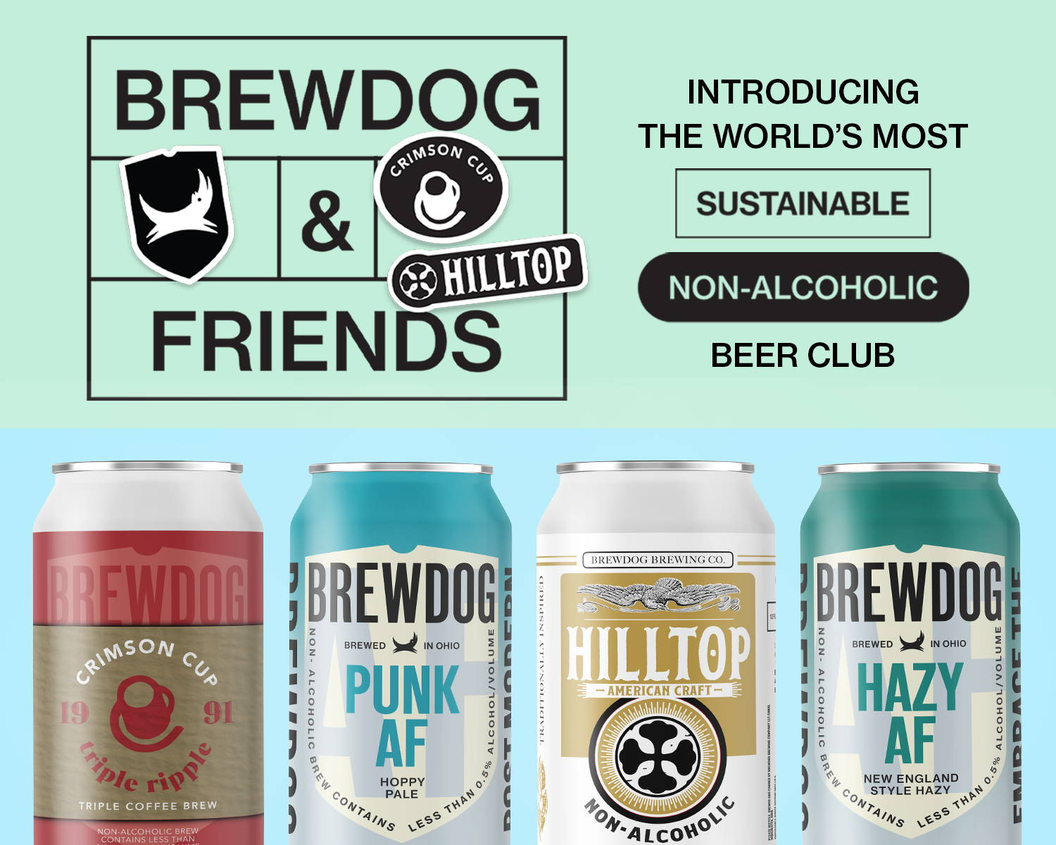 BrewDog & Friends. The world's most sustainable non-alcoholic beer club.