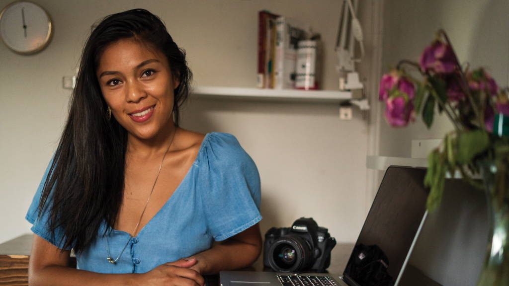 Renee Rodriguez, a photographer/videographer that works with Bianca Balti Collection