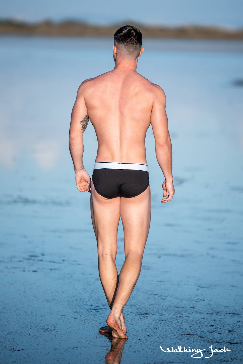 Walking Jack | Mens Core Brief  | It's About The Man | Mens briefs, male model in underwear, model Daniel Tsvetkov , shirtless men, man in pants