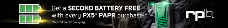 Extra Battery Free with Purchase of PX5 PAPR Through October 2021
