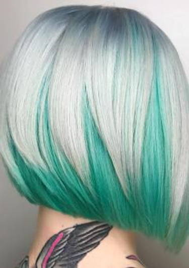 coloration des cheveux bicolore