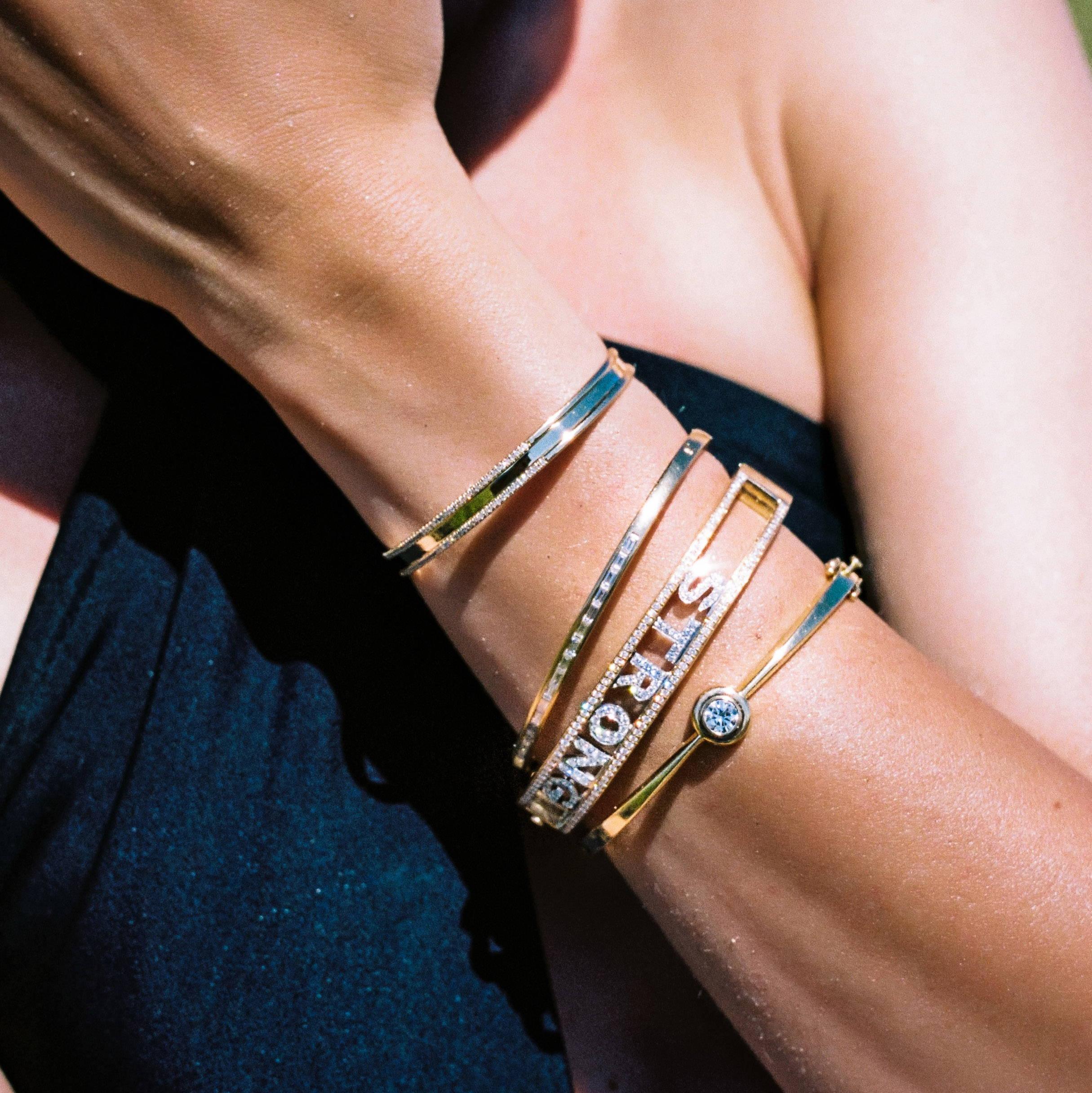 bracelets on wrist