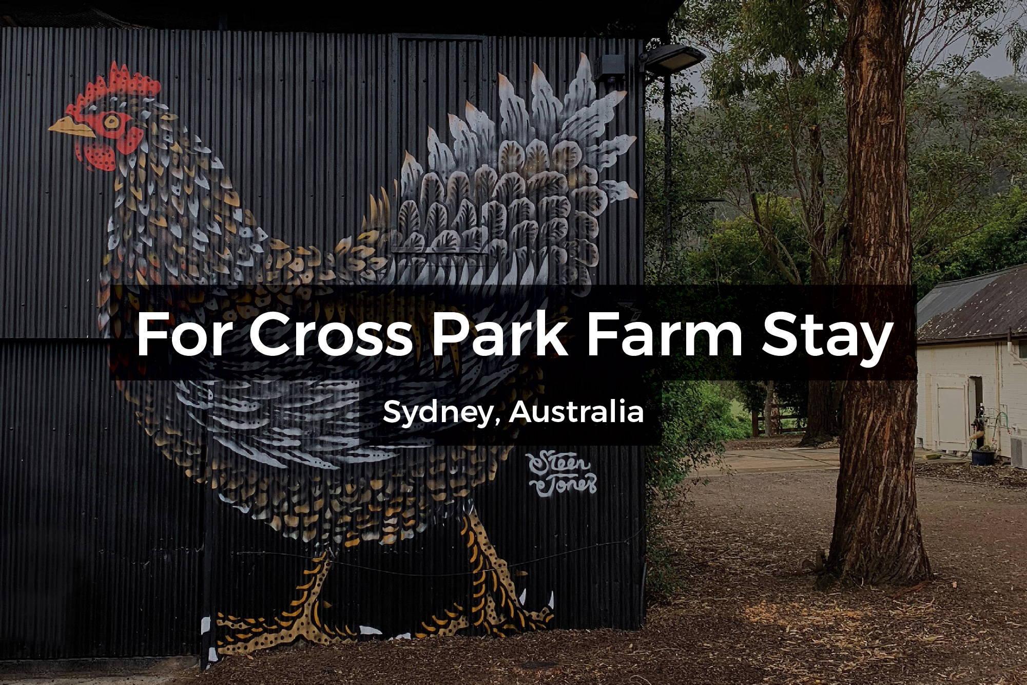 Murals at Cross Park Farm Stay in Sydney, Australia by Steen Jones