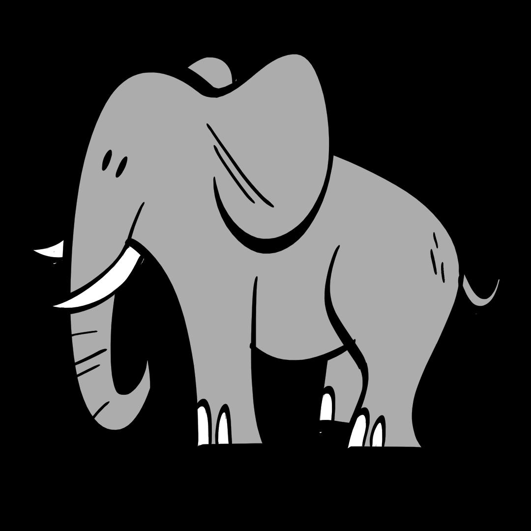 illustrated elephants