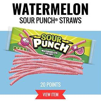 Watermelon Sour Punch Straws - 20 Points VIEW ITEM