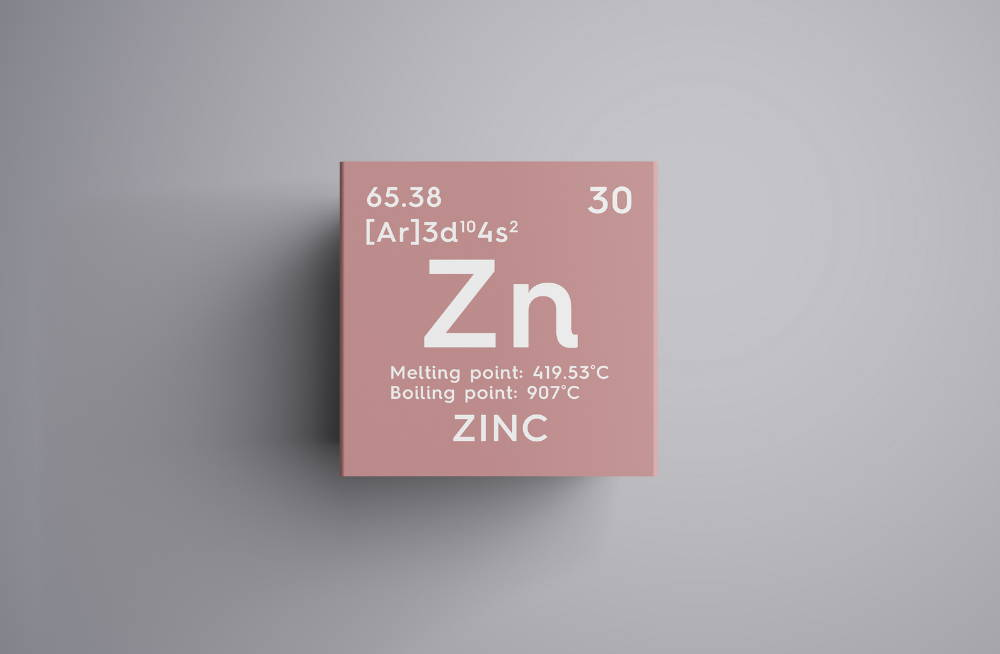 Zinc. Transition metals. Chemical Element of Mendeleev's Periodic Table. Zinc in square cube creative concept.|Strengthen Your Immune System with Trace Element Zinc