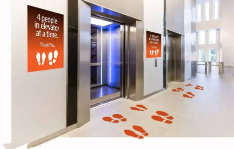 Printable graphic media for floors and stairs