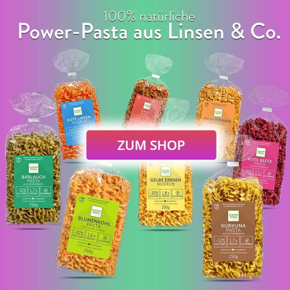 Power-Pasta aus Linsen & Co.