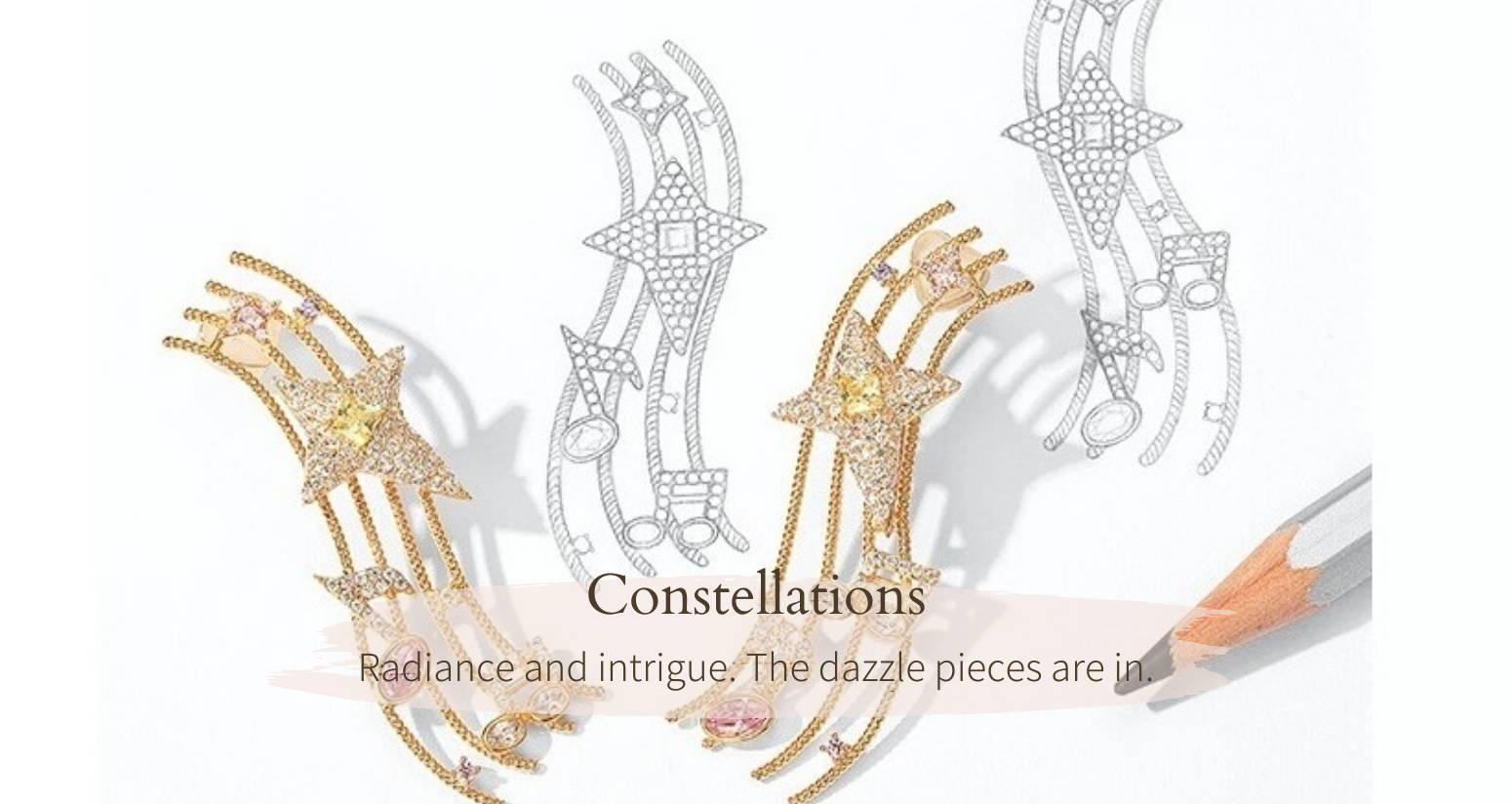 Sol-de-Miel Unique Artisan Jewelry Constellations Collection