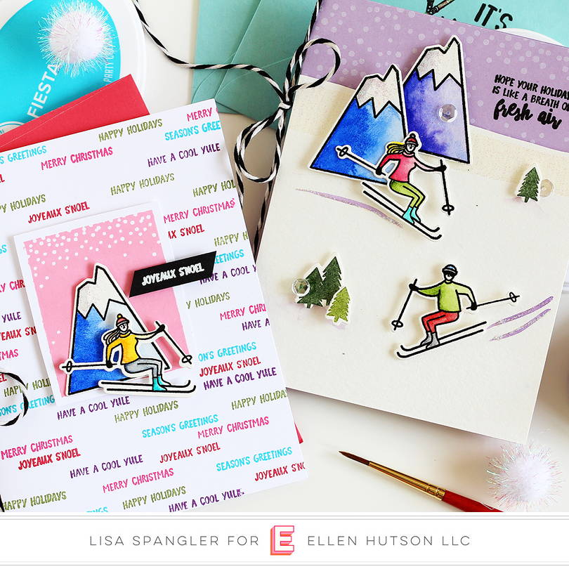Essentials by Ellen Mountain Holiday cards by Lisa Spangler