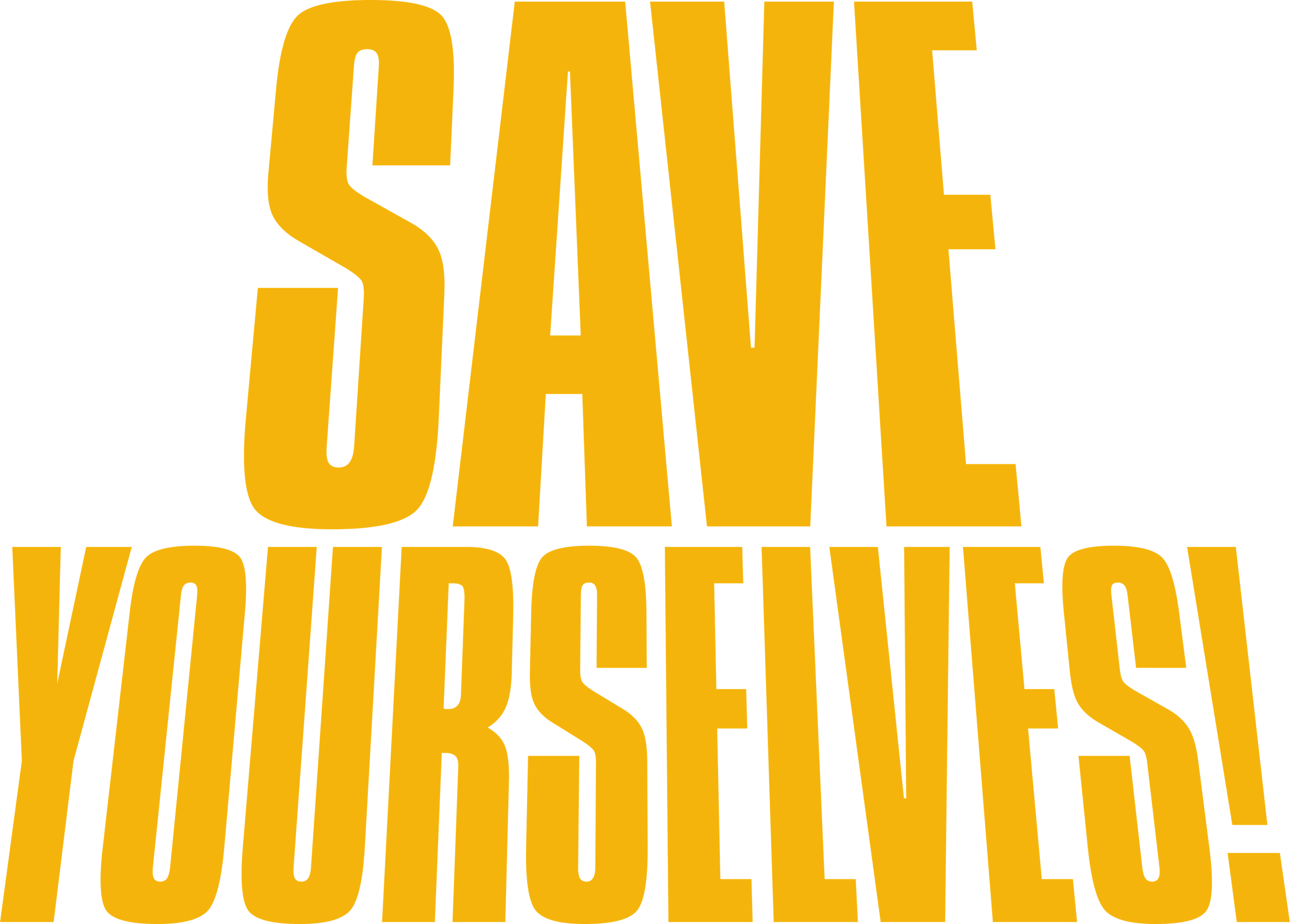save yourselves logo title
