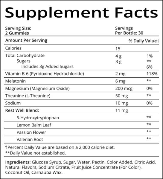 SugarBear Sleep Supplement Facts