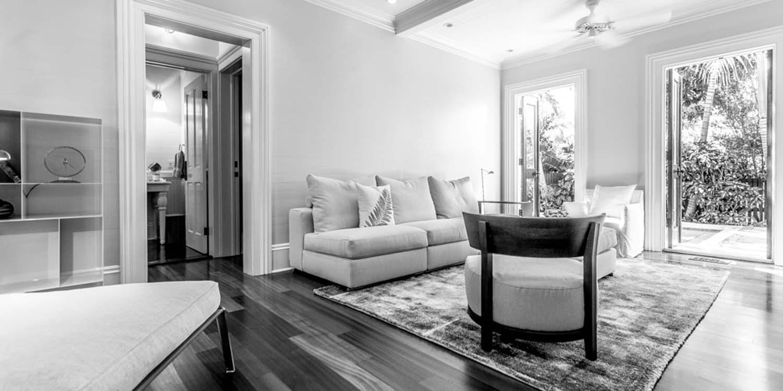 JANGEORGe Interiors & Furniture project Key West Florida, with Flexform, Gervasoni furniture and Lumina and Flos lighting.