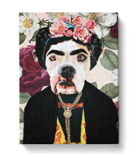 Renaissance Dog Art on Canvas